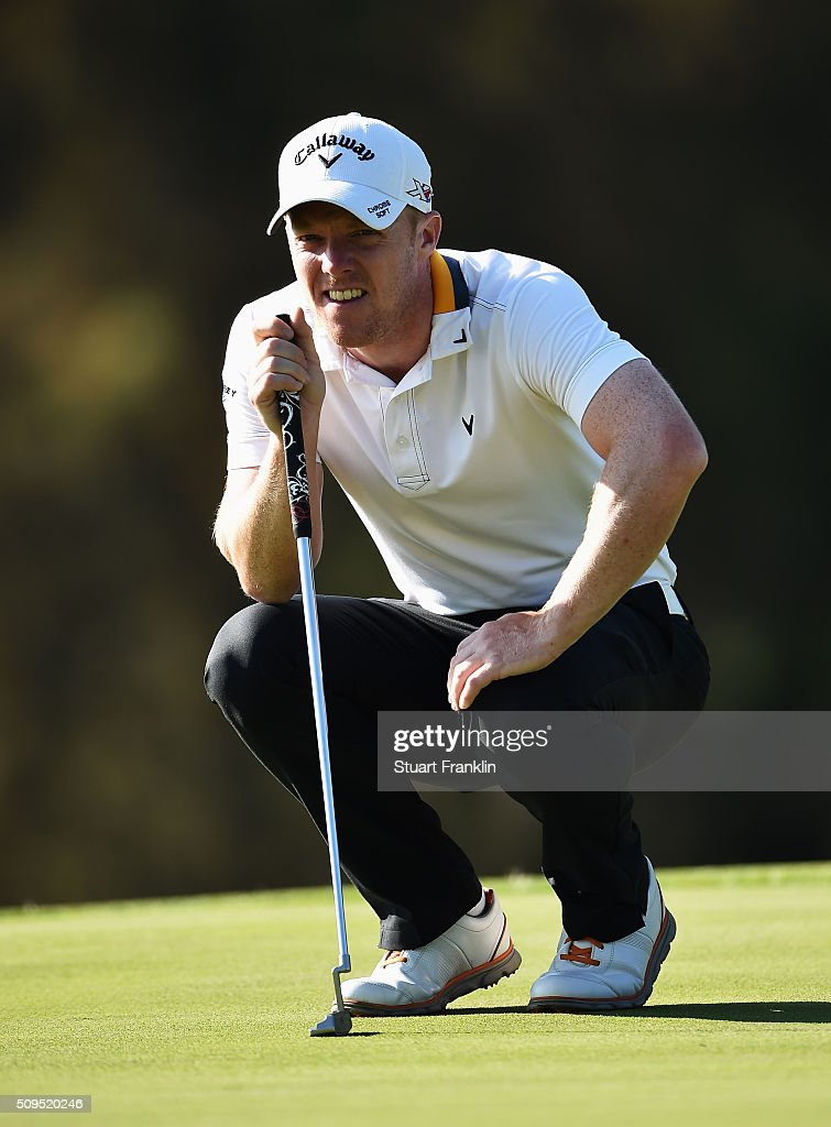 <a gi-track='captionPersonalityLinkClicked' href=/galleries/search?phrase=David+Horsey&family=editorial&specificpeople=776403 ng-click='$event.stopPropagation()'>David Horsey</a> of England ponders a shot during the first round of the Tshwane Open at Pretoria Country Club on February 11, 2016 in Pretoria, South Africa.