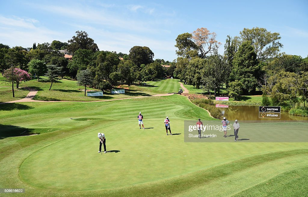 <a gi-track='captionPersonalityLinkClicked' href=/galleries/search?phrase=David+Horsey&family=editorial&specificpeople=776403 ng-click='$event.stopPropagation()'>David Horsey</a> of England putts on the 16th hole during the first round of the Tshwane Open at Pretoria Country Club on February 11, 2016 in Pretoria, South Africa.