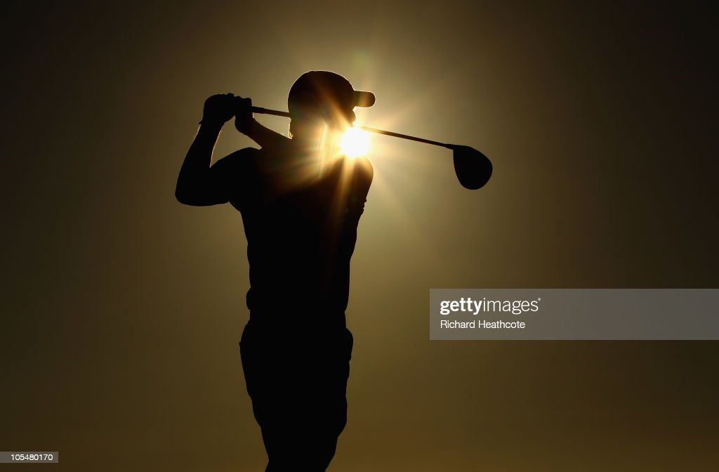 David Horsey of England tee's off at the 18th during the second round of the Portugal Masters at the Oceanico Victoria Golf Course on October 15 2010...