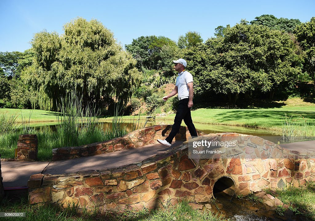 <a gi-track='captionPersonalityLinkClicked' href=/galleries/search?phrase=David+Horsey&family=editorial&specificpeople=776403 ng-click='$event.stopPropagation()'>David Horsey</a> of England walks over a bridge during the first round of the Tshwane Open at Pretoria Country Club on February 11, 2016 in Pretoria, South Africa.