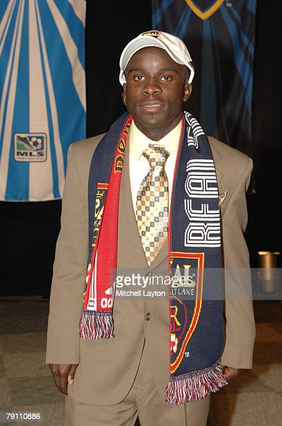 David Horst poses for photo after being selected 14th by Real Salt Lake in the MLS Super Draft on January 18 2008 at the Baltimore Convention Center...