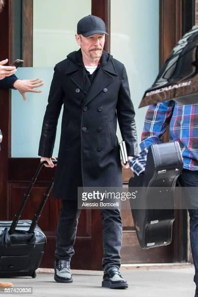 David Howell Evans AKA The Edge is seen leaving his hotel on December 6 2017 in New York New York