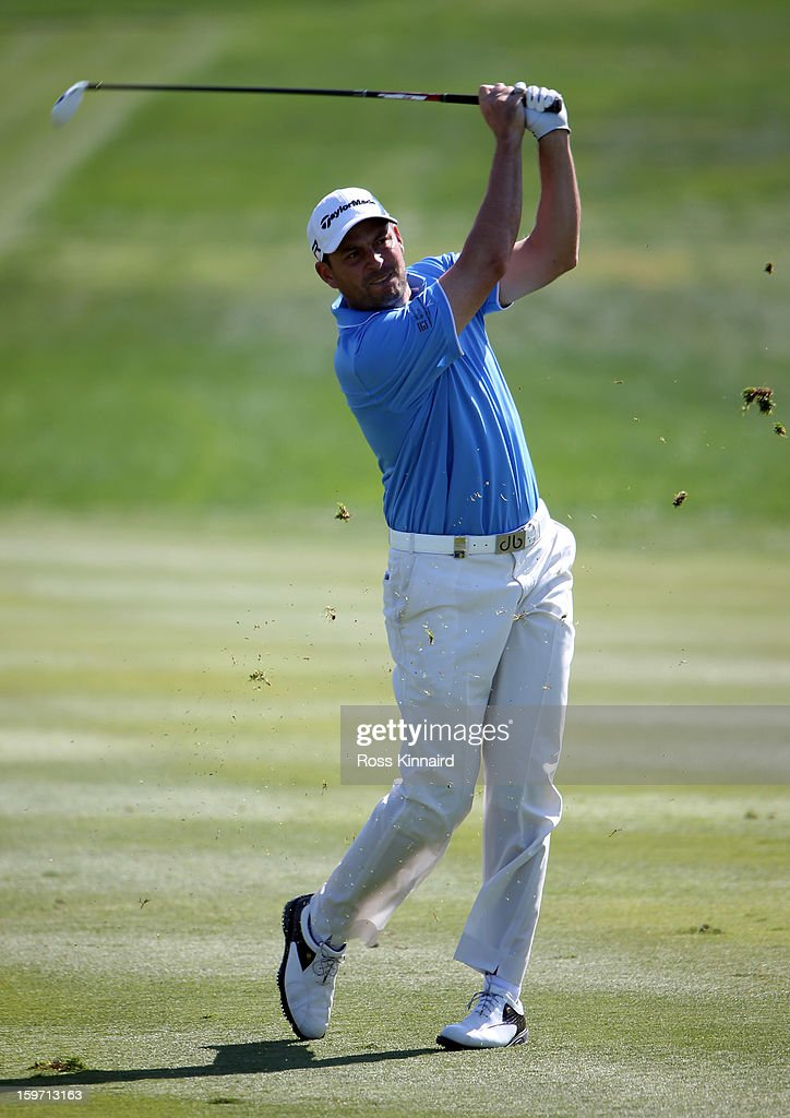 David Howell of England during the third round of the Abu Dhabi HSBC Golf Championship at the Abu Dhabi Golf Club on January 19, 2013 in Abu Dhabi, United Arab Emirates.