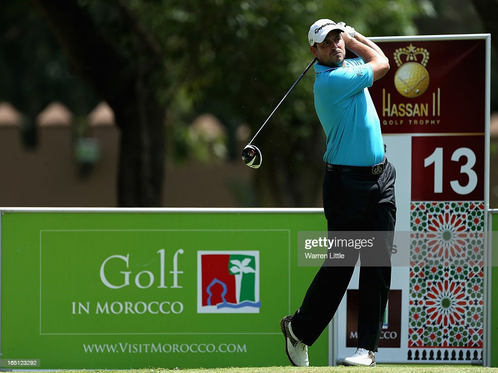 David Howell of England in action during the final round of the Trophee du Hassan II Golf at Golf du Palais Royal on March 31, 2013 in Agadir, Morocco.