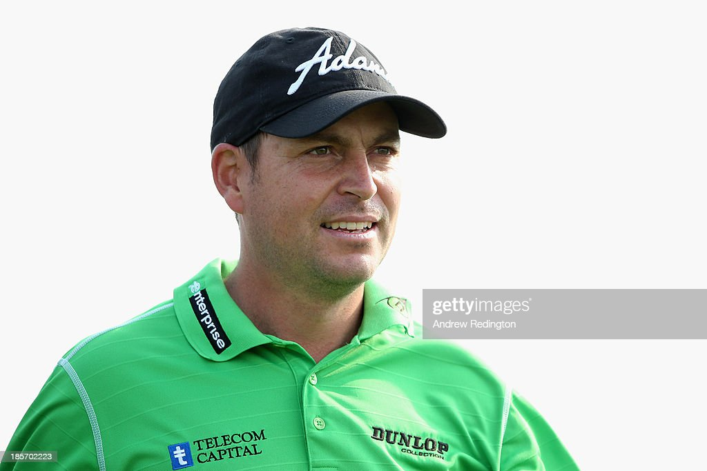 David Howell of England in action during the first round of the BMW Masters at Lake Malaren Golf Club on October 24, 2013 in Shanghai, China.