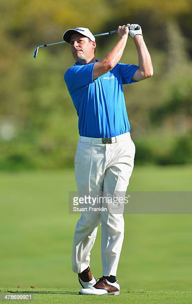David Howell of England plays a shot during the second round of the Trophee Hassan II Golf at Golf du Palais Royal on March 14 2014 in Agadir Morocco