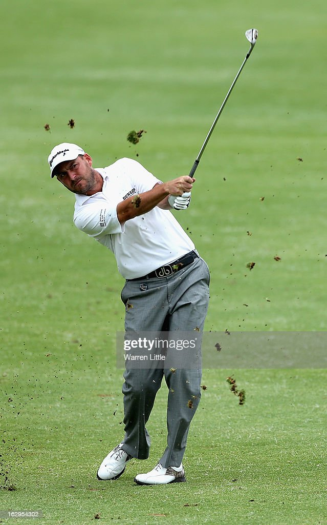 <a gi-track='captionPersonalityLinkClicked' href=/galleries/search?phrase=David+Howell&family=editorial&specificpeople=201681 ng-click='$event.stopPropagation()'>David Howell</a> of England plays his second shot into the 15th green during the third round of the Tshwane Open at Copperleaf Golf & Country Estate on March 2, 2013 in Centurion, South Africa.