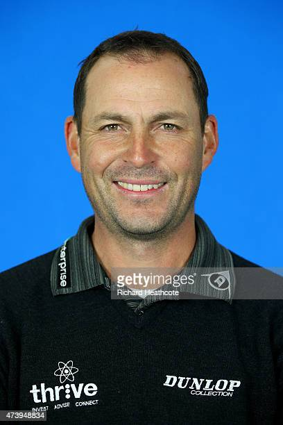 David Howell of England poses for a portrait during a practice day for the BMW PGA Championships at Wentworth on May 19 2015 in Virginia Water England