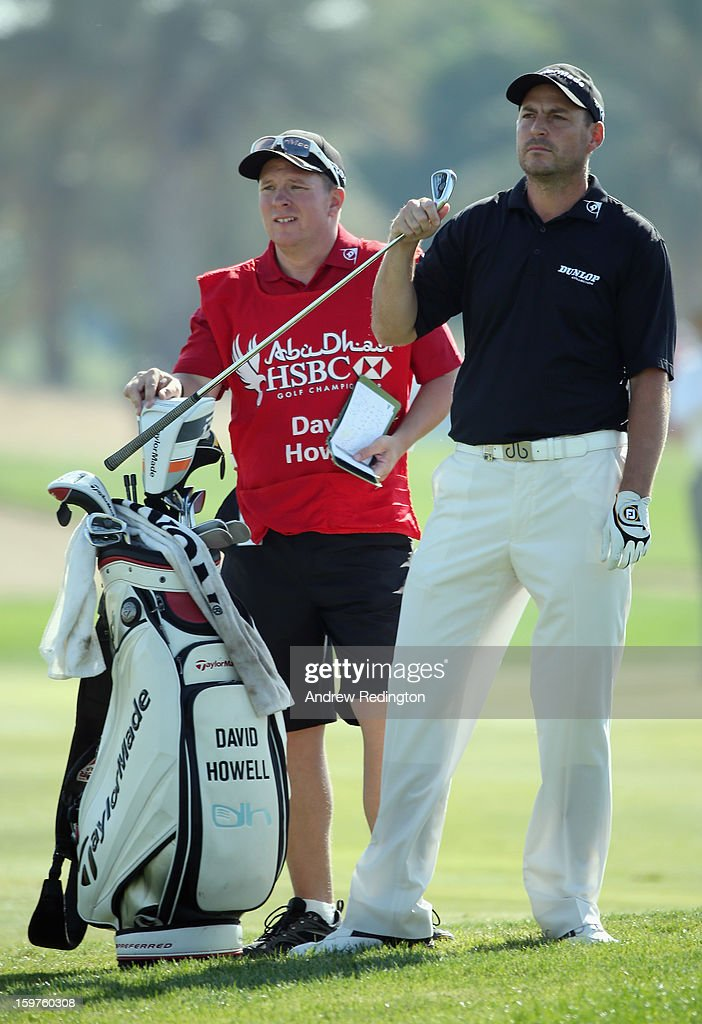 David Howell of England pulls a club from his bag during the final round of The Abu Dhabi HSBC Golf Championship at Abu Dhabi Golf Club on January 20, 2013 in Abu Dhabi, United Arab Emirates.