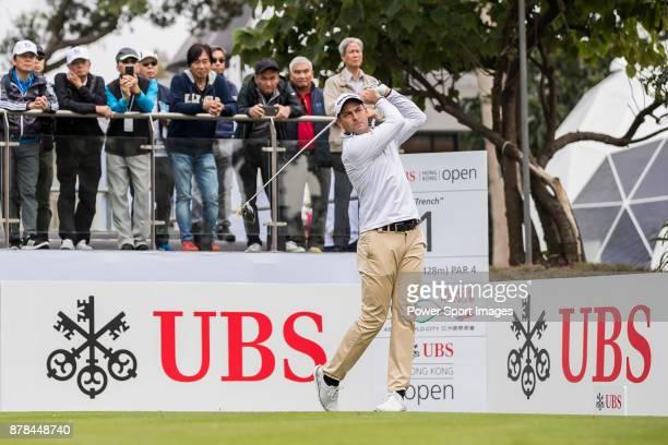 David Howell of England tees off during round two of the UBS Hong Kong Open at The Hong Kong Golf Club on November 24 2017 in Hong Kong Hong Kong