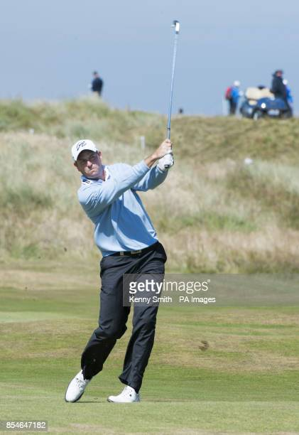 David Howell plays his approach to the 13th green during day two of the Aberdeen Asset Management Scottish Open at Royal Aberdeen Aberdeen