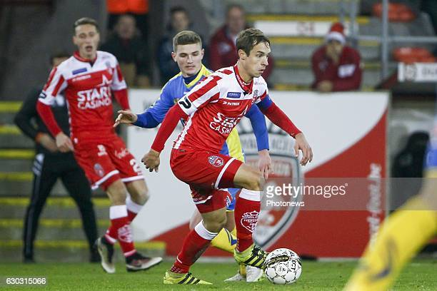 David Hubert midfielder of Royal Excel Mouscron during the Jupiler Pro League match between Royal Excel Mouscron and KVC Westerlo at Le Cannonier...