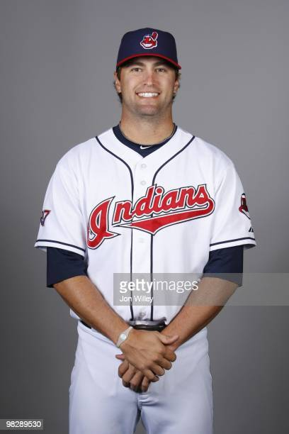 David Huff of the Cleveland Indians poses during Photo Day on Sunday February 28 2010 at Goodyear Ballpark in Goodyear Arizona