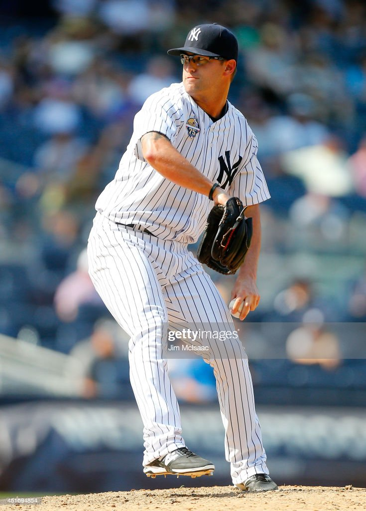 David Huff #55 of the New York Yankees in action against the Tampa Bay Rays at Yankee Stadium on July 2, 2014 in the Bronx borough of New York City. The Rays defeated the Yankees 6-3.