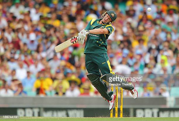 David Hussey of Australia bats during game four of the Commonwealth Bank one day international series between Australia and Sri Lanka at Sydney...