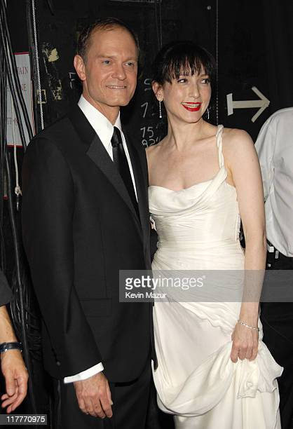 David Hyde Pierce and Bebe Neuwirth during 61st Annual Tony Awards Backstage and Audience at Radio City Music Hall in New York City New York United...