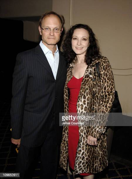 David Hyde Pierce and Bebe Neuwirth during Broadway's Celebrity Benefit for Hurricane Relief Backstage at The Gershwin Theatre in New York City New...
