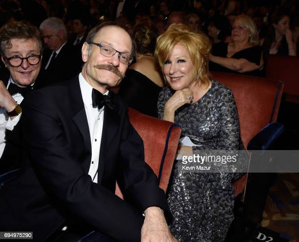 David Hyde Pierce and Bette Midler attend the 2017 Tony Awards at Radio City Music Hall on June 11 2017 in New York City