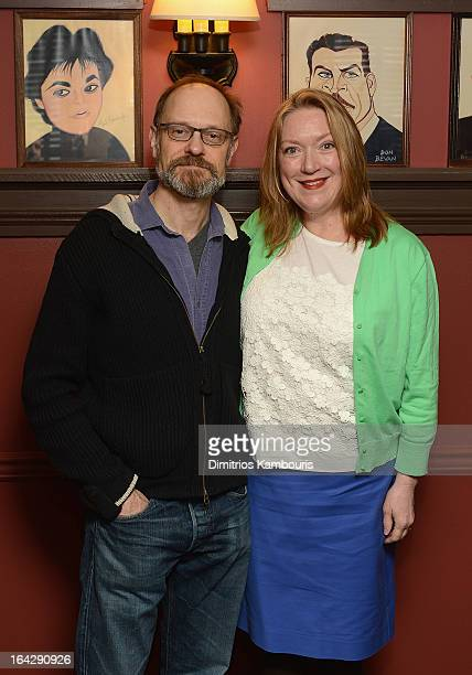 David Hyde Pierce and Kristine Nielsen attend 2013 Drama Desk Panel Discussion 'The Art Of Storytelling' at Sardi's on March 22 2013 in New York City