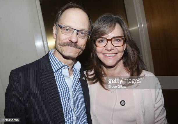 David Hyde Pierce and Sally Field pose at The 71st Annual Tony Awards Meet the Nominees Press Junket at Sofitel Hotel on May 3 2017 in New York City