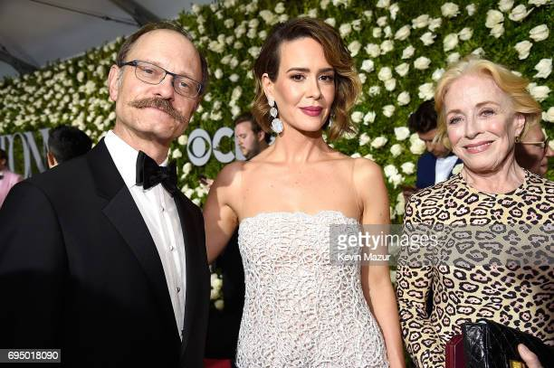 David Hyde Pierce and Sarah Paulson attend the 2017 Tony Awards at Radio City Music Hall on June 11 2017 in New York City