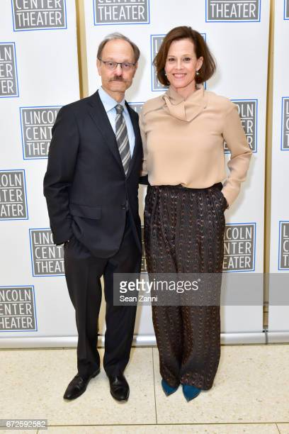 David Hyde Pierce and Sigourney Weaver attend It's About Time to Celebrate Andre Bishop's 25 Years at Lincoln Center Theater at David Geffen Hall on...