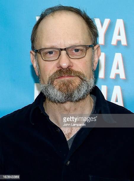 David Hyde Pierce attends 'Vanya And Sonia And Masha And Spike' Broadway Press Preview at The New 42nd Street Studios on February 28 2013 in New York...