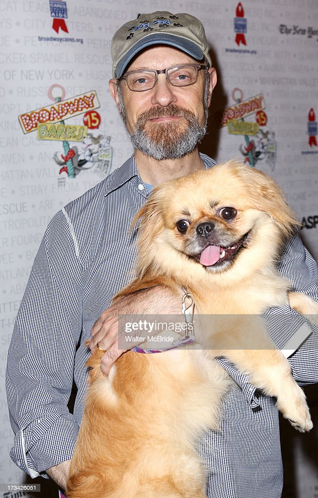 David Hyde Pierce backstage during Broadway Barks 15 in Shubert Alley on July 13, 2013 in New York City.