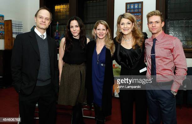 David Hyde Pierce Mary Louise Parker Kelli O'Hara Victoria Clark and Hunter Ryan Herdlicka attend Bless This House A Holidayish Benefit celebration...