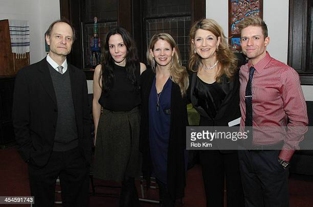 David Hyde Pierce MaryLouise Parker Kelli O'Hara Victoria Clark and Hunter Ryan Herdlicka attend Bless This House A Holidayish Benefit celebration at...
