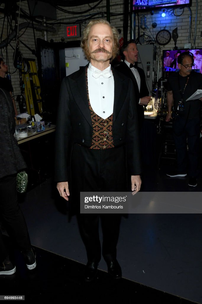 David Hyde Pierce poses backstage during the 2017 Tony Awards at Radio City Music Hall on June 11, 2017 in New York City.