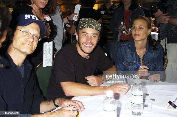 David Hyde Pierce Tom Pelphrey and Gina Tognoni during Broadway Cares/Equity Fights AIDS 19th Annual Flea Market and Celebrity Autograph Table at The...