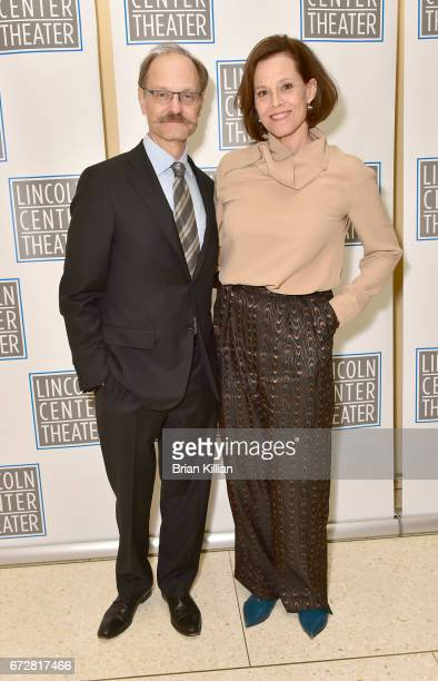 David HydePierce and Sigourney Weaver attend the 2017 Lincoln Center Theater Benefit Celebrating Andre Bishop at David Geffen Hall on April 24 2017...
