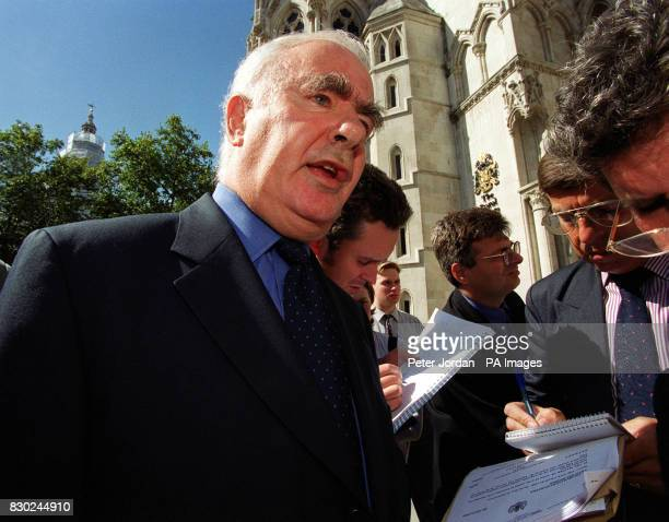 David Hyman a semiretired stockbroker speaking to reporters outside the Court of Appeal in London after being given leave to appeal after mutual life...