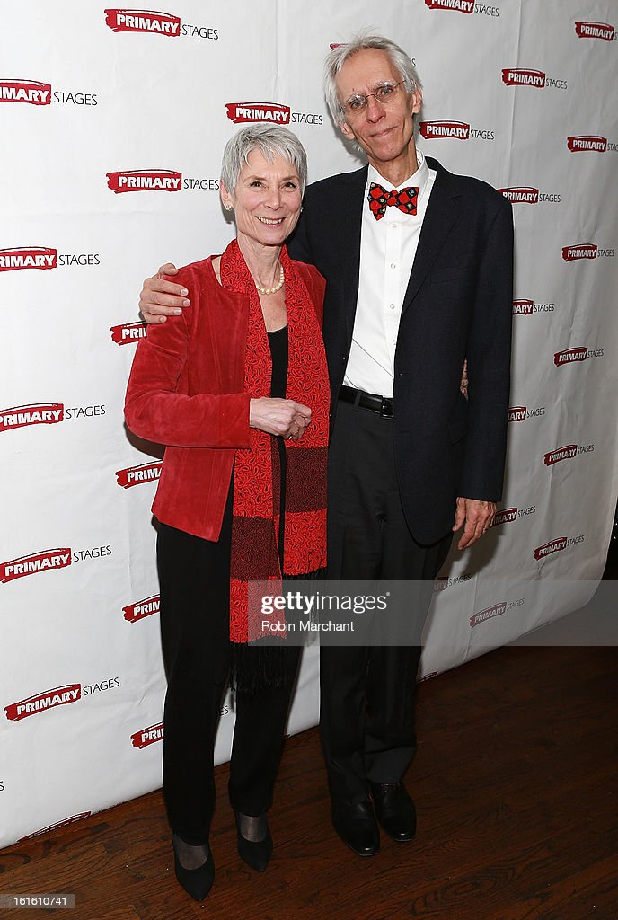 David Ives (R) with wife attends 'All In The Timing' 20th Anniversary Opening Night Reception at The Volstead on February 12, 2013 in New York City.