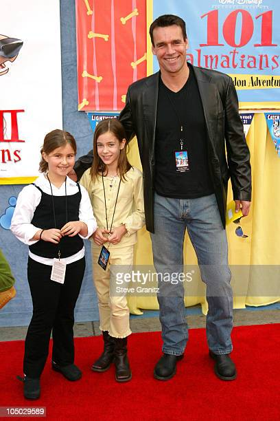 David James Elliott his daughter and a friend during '101 Dalmatians II Patch's London Adventure' Premiere at El Capitan Theater in Hollywood...