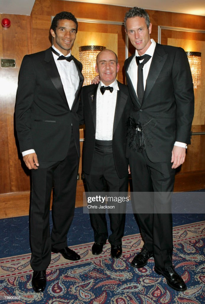 David James, Lord Vincent Constantine and Mark Foster attend the Mark Foster Testimonial Dinner at the Royal Lancaster Hotel in London, on April 12, 2007. The dinner is held in aid of Access Support and The Anaphylaxis Campaign.