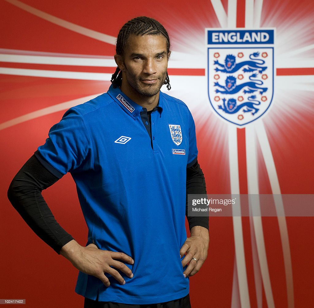 David James poses for a photograph after an England press conference at the Royal Bafokeng Sports Campus on June 25 2010 in Rustenburg South Africa
