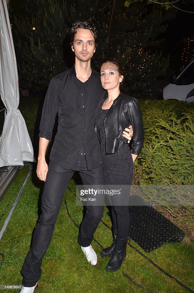 David Jarre and painter Ara Starck of Two pose during the Veillee Foodstock Party 2nd Night At MAC/VAL Vitry on May 4, 2012 in Vitry sur Seine, France.