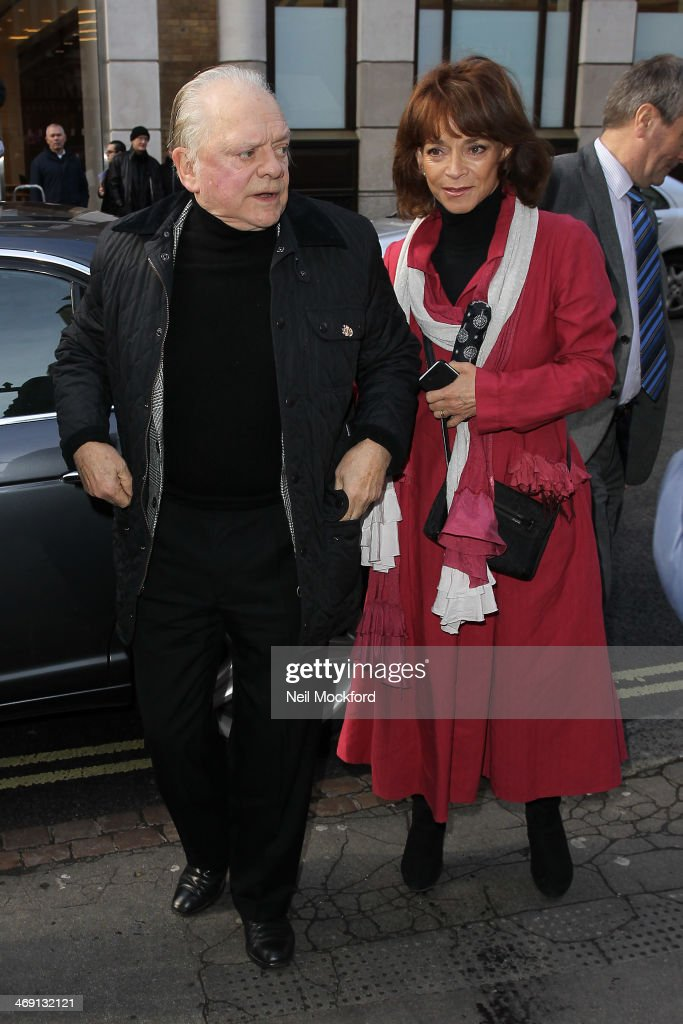David Jason and Sue Holderness attend the funeral of Roger Lloyd-Pack at St Paul's Church in Covent Garden on February 13, 2014 in London, England.