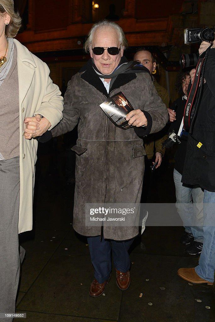 David Jason leaves Royal Albert Hall after Cirque du Soleil on January 8, 2013 in London, England.