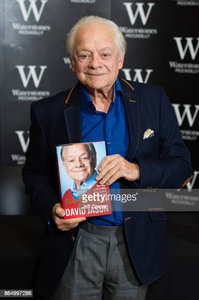 David Jason signs copies of his new book 'Only Fools and Stories' at Waterstones Piccadilly on October 22 2017 in London England