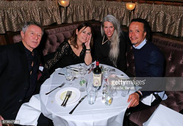 David Jenkins Alexandra Shulman Sarah Harris and Alfie Hollingsworth attend the launch of The Ned London on April 26 2017 in London England