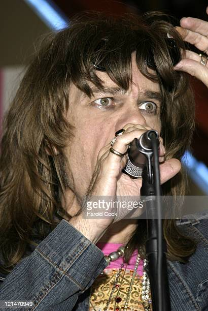 David Johansen during New York Dolls Performance and Signing at Tower Records in New York City July 25 2006 at Tower Records in New York City New...