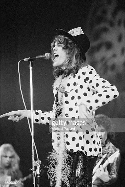 David Johansen from American rock band the New York Dolls performs live on stage at the Wembley Festival of Music at the Empire Pool Wembley London...