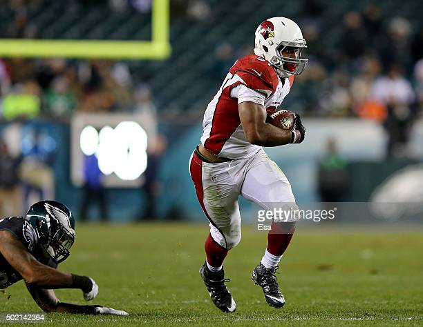 David Johnson of the Arizona Cardinals carries the ball in the fourth quarter against the Philadelphia Eagles at Lincoln Financial Field on December...