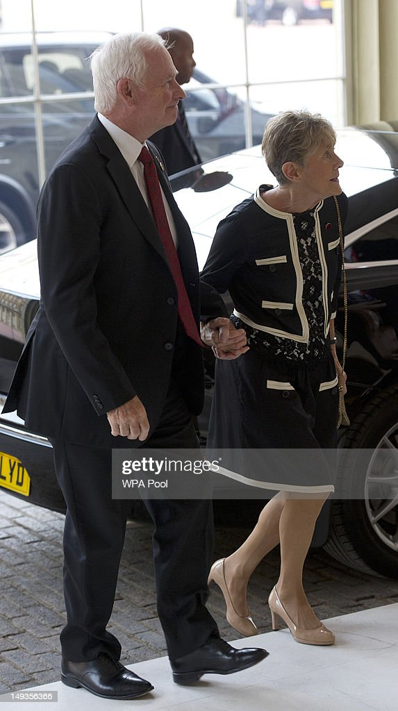 David Johnston, the Governor General of Canada and his wife Sharon, arrive for a London 2012 Olympic Games reception, hosted by Britain's Queen Elizabeth II, at Buckingham Palace on July 27, 2012 in London, England.