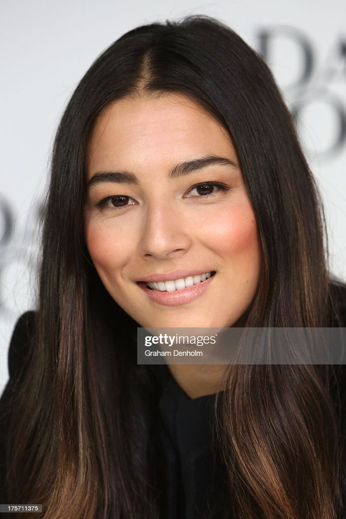 David Jones Fashion Ambassador <a gi-track='captionPersonalityLinkClicked' href=/galleries/search?phrase=Jessica+Gomes&family=editorial&specificpeople=4319063 ng-click='$event.stopPropagation()'>Jessica Gomes</a> poses at a meet and greet and in store signing at David Jones Bourke Street Mall on August 7, 2013 in Melbourne, Australia.