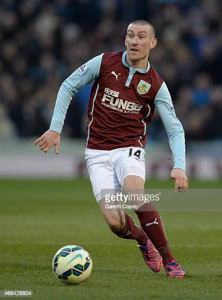 David Jones of Burnley during the Barclays Premier League match between Burnley and Manchester City at Turf Moor on March 14 2015 in Burnley England