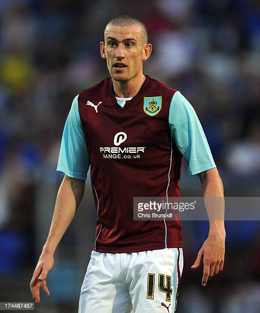 David Jones of Burnley in action during the pre season friendly match between Tranmere Rovers and Burnley at Prenton Park on July 23 2013 in...